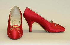 Evening shoes by Massaro, France, 1930s