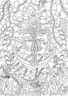 Ocean Life – Anchor colouring page