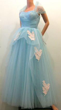 Robin Egg Blue Tulle Prom Dress