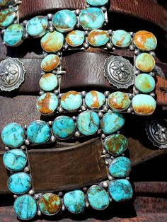 Grande Blueberry and Copper Seafoam frame buckles