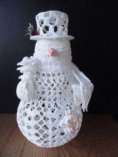 А так можно снеговика сделать.