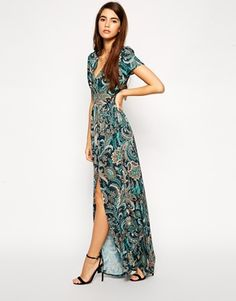 Enlarge Love Maxi Dress in Paisley Print