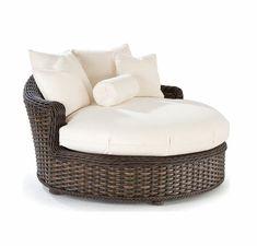 South Hampton Outdoor Wicker Circular Chaise by...   Wicker Furniture wickerparadise.com
