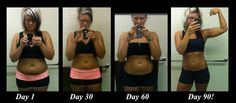 This was the picture that made me want to do the Body By Vi Challenge. And the fact that its super healthy! Results at 30, 60 and 90 Days.  Who wants the start their own 90 Day Challenge?!