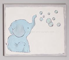 Elephant Painting - I think a nursery decorated with elephants would be the cutest. Also, you could make this work for either Gender so it's a cool idea for parents who choose not to know before hand.