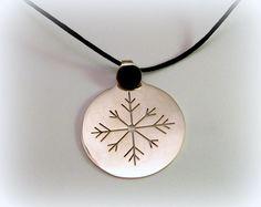 Silver snawlake pendant by Minicsiga on Etsy