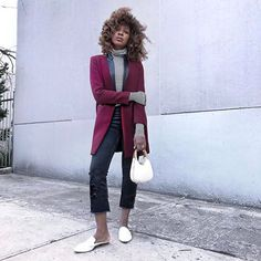 Love an old tuxedo coat but note to self: tights next time 🙄 . Coat: Sandro Polo neck: H&M Jeans: Zara  Mule slippers: Shopbop Bag: Vintage . #sandroparis #sandro #whatiwore #shopbop @shopbop @sandroparis #zara #zarabasic #zarawoman #zaratrafaluc #muleshoe #jeffreycampbell #wiw #highwaistjeans #denimlovers #hmstyle #hm