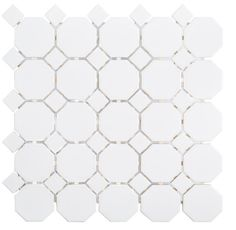 Transform the look of your room instantly by using this Jeffrey Court Retro Octagon White Dot Porcelain Mosaic Tile. Mosaic Wall Tiles, Bath Tiles, Kitchen Facelift, Border Tiles, Decorative Borders, Stone Flooring, Interior Walls, Accent Pieces, Porcelain