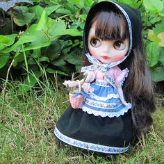 Handmade Blythe folk dress costume