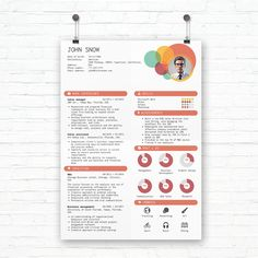 Infographic Resume Template  Create An Awesome Resume Cover