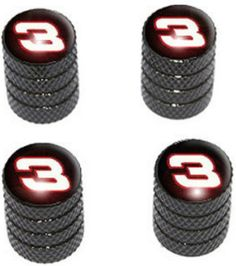 "Amazon.com : (4 Count) Cool and Custom ""Diamond Etching Nascar Number 3 Top with Easy Grip Texture"" Tire Wheel Rim Air Valve Stem Dust Cap Seal Made of Genuine Anodized Aluminum Metal {Abyss BMW Black and Red Colors - Hard Metal Internal Threads for Easy Application - Rust Proof - Fits For Most Cars, Trucks, SUV, RV, ATV, UTV, Motorcycle, Bicycles} : Sports & Outdoors"