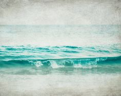 Ocean photograph - beach photography aqua blue teal waves photo sea shore ocean seashore ocean photograph 8x10 - Aquatic