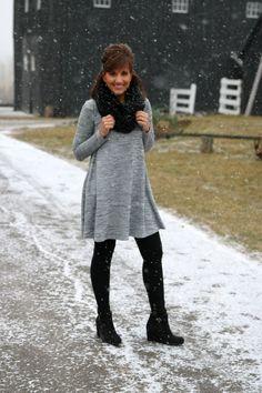 Winter Fashion- Swing Dress - Grace & Beauty