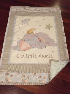 Baby quilt - Dumbo - theme is elephants <3