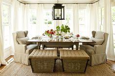 Comfy cozy dining room or 3 season room