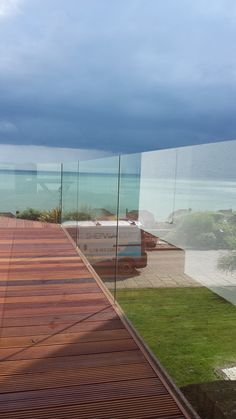 Clearview Glass Balustrade with Hydrophobic Coating. Contact us for your quote (+44) 1303 220666, or visit our website for more details; www.shepwayglass.co.uk