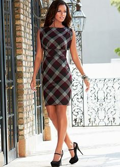 "$44.00 Plaid dress @ Venus.com super cute outfit for ""work"""