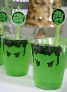 Hulk Superhero Birthday Party treats! See more party ideas at CatchMyParty.com!