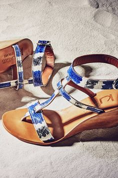 Slide View: 6: K. Jacques Abysse Wedge Sandals