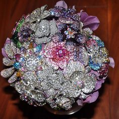 brooch bouquet by wedsavvy on etsy