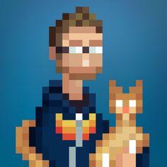 Pixel Art Portraits by artist LeeOccleshaw on Fiverr + www.stonedragon.co.uk