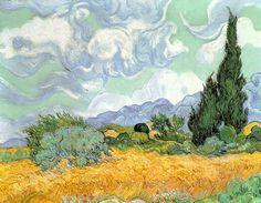 Vincent Van Gogh - Wheatfield with Cypresses, 1889 - jetzt bestellen auf kunst-fuer-alle.de