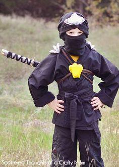 Garçons Ninja Costume Fancy Dress Costume Role Play Noir Samurai Guerrier World Book