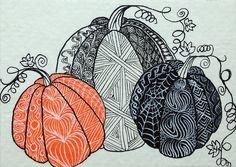 Zentangled Pumpkins | Flickr.