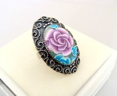 Polymer Clay Hand Made Ring Gift from Israel