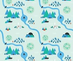 Illustrator Tutorial: Create quirky repeating patterns. Delve into your imagination for kooky maps with Imakethings