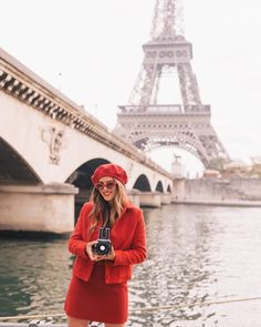 "53.1k Likes, 935 Comments - Julia Engel (Gal Meets Glam) (@juliahengel) on Instagram: ""Celebrating 27 in Paris today!!! ❤️ #birthday #27 #gmgtravels #ladyinred #eiffeltower #paris…"""