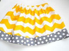 Little Girls Skirt - Chevron Skirt -  Cute Little Baby Skirt - Newborn to Girls 7 Sizes.  via Etsy.