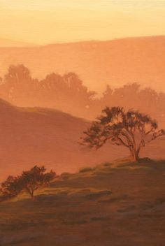 Northern California landscape painting, Pt. Reyes Wilderness Area, Mt. Vision Rd. Sunset View, original oil painting, http://terrysauve.com