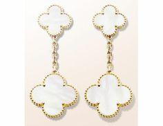 Van Cleef & Arpels Alhambra mother of pearl earrings