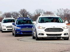 Driverless cars image taken from the cnet website.