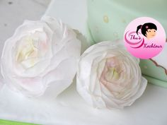 How to make buttercup flowers with wafer paper/ Ranunkel-Tutorial aus Es...