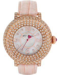 3 ROW CRYSTAL FACE ROSE GOLD WATCH