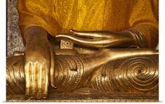 Scott Stulberg Poster Print Wall Art Print entitled Buddha in the Shwedagon Pagoda, Yangon, Burma, None