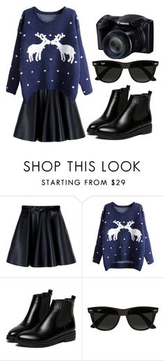 """""""#NewYear"""" by coolgirl342 ❤ liked on Polyvore featuring MSGM, WithChic, Ray-Ban and newyear"""
