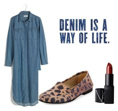 """""""Styling Denim"""" by pia-soy on Polyvore featuring Madewell, Manolo Blahnik and NARS Cosmetics"""
