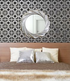 Modern Wall Stencil Hollywood Squares Allover Pattern Stencil for a DIY Wallpaper Look. $44.00, via Etsy.