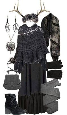 Love this skirt & poncho for witch costume