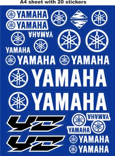 Yamaha stickers,race stickers, decals,helmet decal,motorcycle graphics,tuning.
