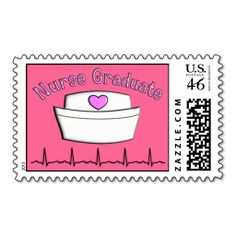Nurse Graduation Postage Stamps Pink http://www.zazzle.com/nurse_graduation_postage_stamps_pink-172716739861868066?rf=238282136580680600