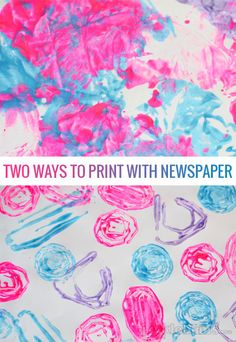 Two easy ways to print with newspaper or any scrap paper.