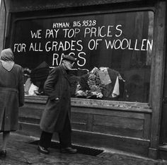 Rabbis, rags and rainy Whitechapel: Stunning photos from the celebrate Jewish life in post-war East End Victorian London, Vintage London, Old London, London Pictures, Old Pictures, Old Photos, London History, British History, Vintage Photographs