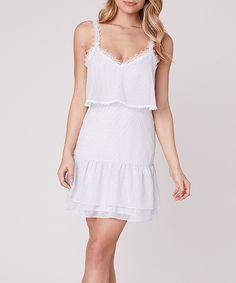 BB Dakota Ivory Ruffle Without a Dot Sleeveless Dress - Women Lace Trim, Cold Shoulder Dress, White Dress, Ivory, Bb, High Point, Dresses, Night, Women