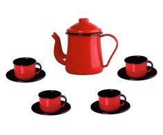Jogo para Café My Home - Vermelho