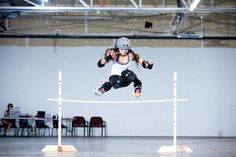 wow! I'd love to be able to do this someday. knees to chest... Photo by: Jason O'Durgy Holy mother of jumping batman!