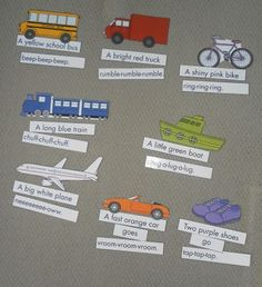 Transportation file folder games and printable resources